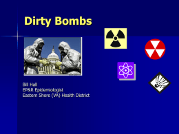 Dirty Bombs - Virginia Department of Health