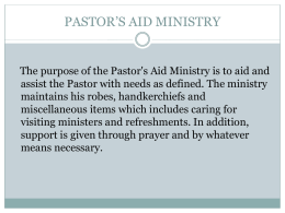 PASTOR'S AID MINISTRY