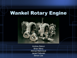 Wankel Rotary Engine - Rutgers School of Engineering