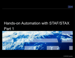 Software Testing Automation Framework (STAF)
