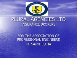 PLURAL AGENCIES LTD - St. Lucia Engineers