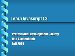 Learn Javascript 1.3