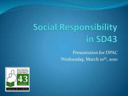 Social Responsibility in SD43