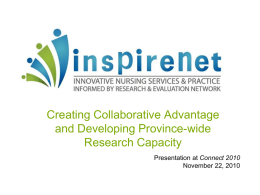 The BC Nursing Health Services Research Network: