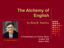 PowerPoint Presentation - The Alchemy of English