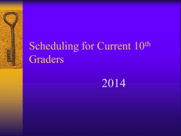 11th Grade Schedules - William C. Overfelt High School