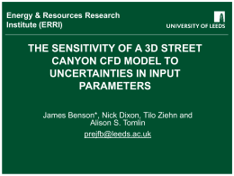 THE SENSITIVITY OF A 3D STREET CANYON CFD MODEL TO