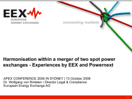 Integrating power markets – the cooperation model of EEX