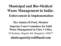 Municipal and Bio-Medical Waste Management in India: