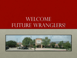 Welcome future wranglers! - Coppell Independent School