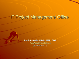 Setting Up a Project Management Office