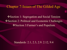 Chapter 16- Politics and Reform