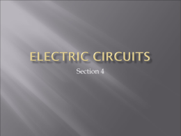 Electric Circuits - Mother Teresa Regional School