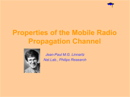 Properties of Mobile Radio Propagation Channel