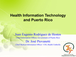 Health Information Technology y Puerto Rico