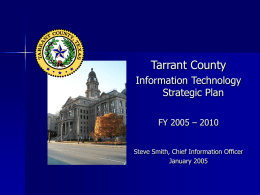 Tarrant County Information Technology Strategic Plan