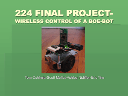 224 FINAL PROJECT- WIRELESS CONTRO OF A BOE-BOT