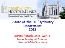THE WAY FORWARD - Iowa Psychiatric Society