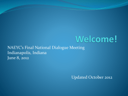 Welcome! [www.naeyc.org]