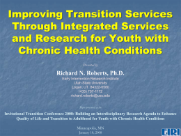 Improving Transition Services Through Integrated Services