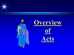 Overview of Acts