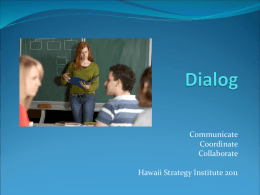 Dialog - Hawaii Community College