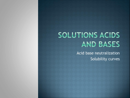 Solutions acids and bases