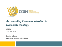CoiN a center of innovation for nanobiotechnology