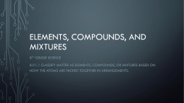 Elements , Compounds, and Mixtures