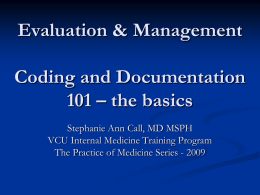 Evaluation & Management Coding and Documentation