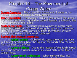 Chapter 14 – The Movement of Ocean Water