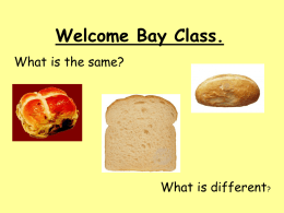 Welcome Bay Class.