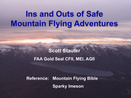 Ins and Outs of Safe Mountain Flying Adventures