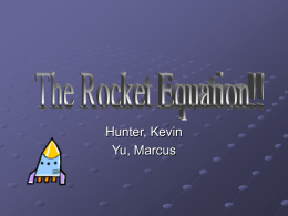 The Rocket Equation!!