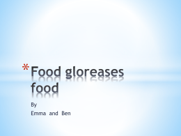 Food gloreases food