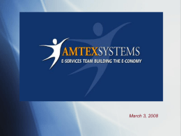 AMTEX SYSTEMS PROFILE