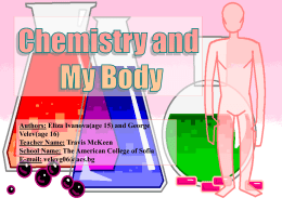 Chemistry and My Body