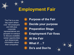 Employment Fair - American University in Cairo