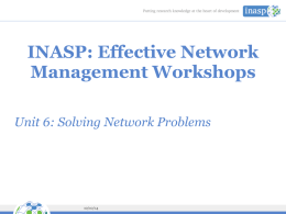 INASP: Effective Network Management Workshops