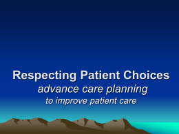 Respecting Patient Choices advance care planning