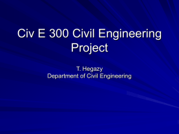 Civ E 300 Civil Engineering Design Project