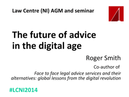 Digital delivery and the legal services to those on low