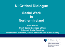The Northern Ireland Social Care Council (NISCC)