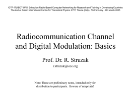 Radiocommunication Channel and Digital Modulation: Basics