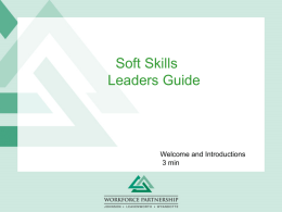 Soft Skills Leaders Guide - KANSASWORKS STATE BOARD.