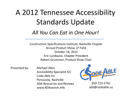 A 2012 Texas Accessibility Standards Update