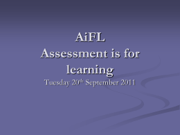 AiFL Assessment if for learning