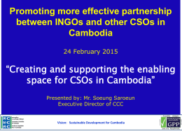Situating CSO development challenges in the context of