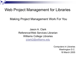 Web Project Management for Libraries