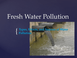 Fresh Water Pollution - Alabama School of Fine Arts